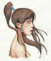 Korra (watercolour) by Hopiamanipopcorn