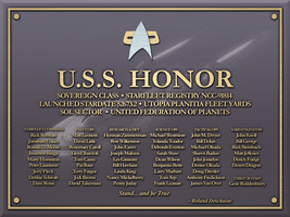 USS Honor Plaque by LordTrekie
