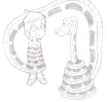 Kaa And Zick by jerrydestrtoyer