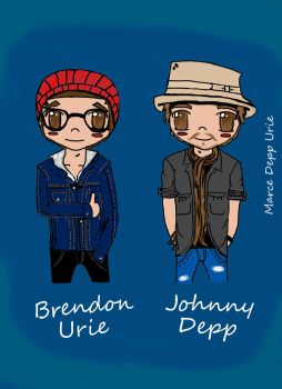 Brendon Urie and Johnny Depp by Marcewentzurie