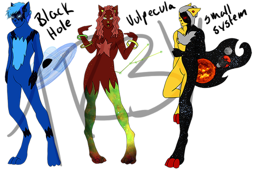 OPEN - Set Price - Clusterfox Anthro Guest Adopts by DEC-Adopts