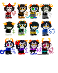 Chinese zodiac fantrolls by Starlight-Glaxy