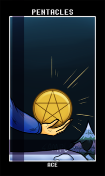 Pentacles_Ace by AnicMJ