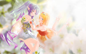 Fairy Miku  and Rin by stigmata5