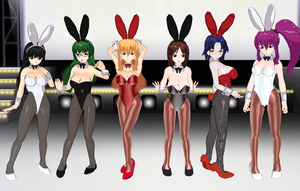 Mizugi Kanojo girls bunnies by quamp