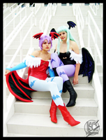 Morrigan and Lilith by CosplayCousins
