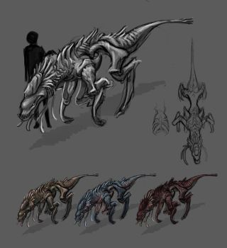 Kaiden Alien Concepts Prt. 3 by TheStory137