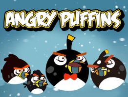 Angry Puffins by BlackLadySango