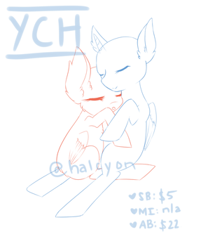 YCH | Snuggles | Closed by halcyondrop