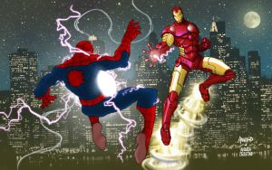Spidey VS Ironman by AndreaCelestini
