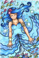 The Girl Loved by the Sea by LittleAsura
