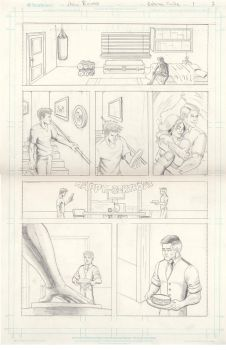 Batman: Finite Page 2 pencils by rosas-chris