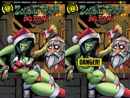 Zombie tramp Saves XXX-mas special covers by Dany-Morales