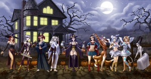 Commission - Halloween Banner by RoninDude