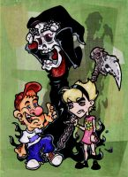 Grimmy, Billy, and Mandy by DorkZombie