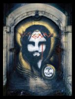 Jesus in Milan by Scryc