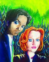 Mulder and Scully by burning-thirteen