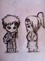 Gaara and Deidara by Kuriuss