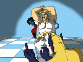Sabretooth tickled by LannaD
