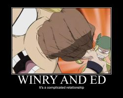 Winry X Ed by vaxercon