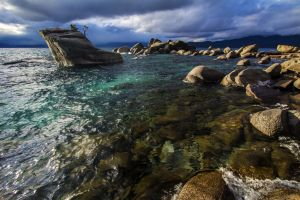The Bonsai Rock at Lake Tahoe by sellsworth