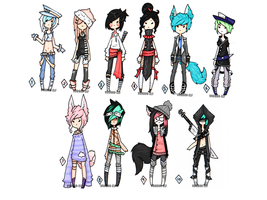 70 point Adoptables  -TAKEN- by Voodoo-Elf