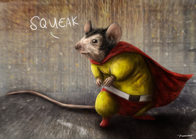 Mighty Mouse by thesadpencil