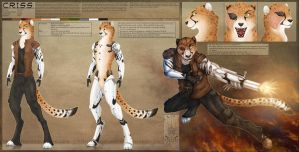 Ref Sheet Comish - C.R.I.S.S. by TwilightSaint