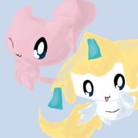 Mew and Jirachi by Chaomaster1