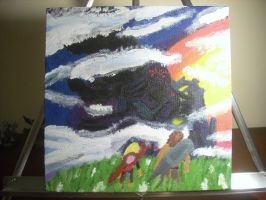 Xenoblade Chronicles Mechonis at Sunset on Canvas by dragontamer272