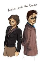 The Doctor and Amelia by Jessimie