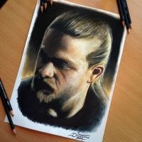 Jax Teller Pencil Drawing by AtomiccircuS
