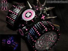 Silver-Blak-UV Pink Respirator by TheRealEricX