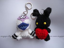 Nobody and Heartless Amigurumi by AnyaZoe