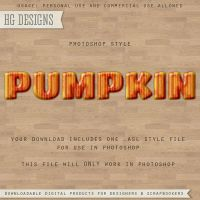 PS Style: PUMPKIN by HGGraphicDesigns