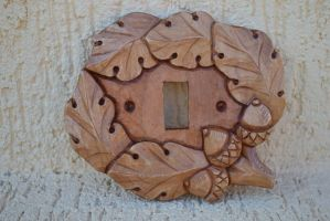 wooden hand carved light switch cover by IvayloZlatev