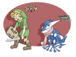 Link and Greninja by BadProblems