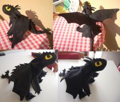 Night Fury Plushie by zero081090