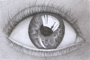 Another Eye Drawing by thekookyartist