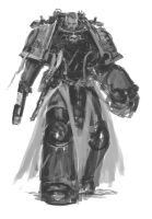 Deathwatch  Battle-Brother (rough sketch) by DiegoGisbertLlorens