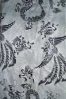 Fabric texture - silver Chinese brocade 1 by jojostock
