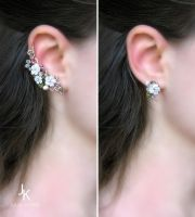 Variation of Jasmin set with stud by JSjewelry