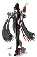 Bayonetta - colored by BrunOz-Mendes