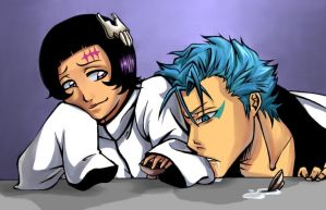 Grimmjow is drunk - colour by Koklico