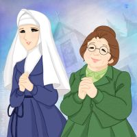 Miss Ponny and Sister Maria by mercuryZ
