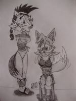 Wolfie and Foxy by Levvvar