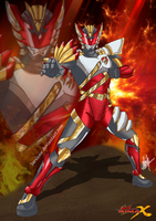 Satria Garuda Bima-X fan art by Larxione