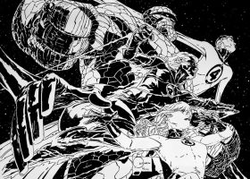 My inks over Joe Quesada FF pencils (A2) by Roman-Stevens