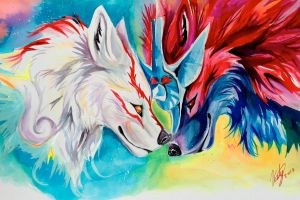 Oki x Amaterasu by Lucky978