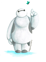 Baymax Watercolor by HayaMika